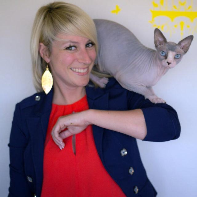 Ashley Drew with Cat